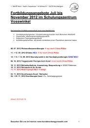 Fortbildungsangebote Juli bis November 2012 im ...
