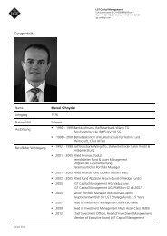 Marcel Schnyder - LGT Capital Management