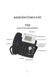 25 T322 IP készülék használati útmutató - unitelkft.hu