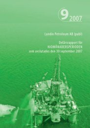 2007 9 - Lundin Petroleum