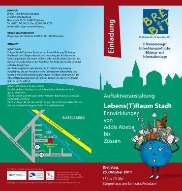 Einladung - bei der RAA Brandenburg
