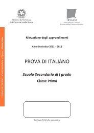 prova invalsi 2011 – 2012 italiano prima media - Engheben.it