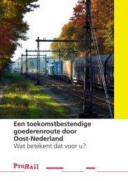 Brochure PHS Goederenroute Oost-Nederland - ProRail