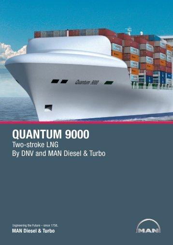 """container vessel """"quantum 9000 concept"""" - MAN Diesel & Turbo"""