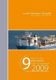 9 month report 2009 - Lundin Petroleum