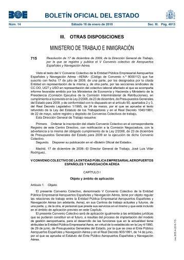 boletín oficial del estado - Sindicato Nacional de CCOO de Galicia