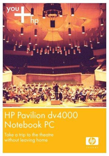 HP Pavilion dv4000 Notebook PC - HP - Hewlett Packard