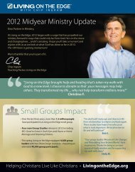 2012 Midyear Ministry Report - Living on the Edge