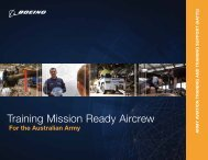Training Mission Ready Aircrew - Boeing Australia