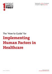 Patient Safety WalkRounds™ - Clinical Human Factors Group
