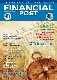Financial Post Dergisi 2.Sayı - İktisadi ve İdari Bilimler Fakültesi ...