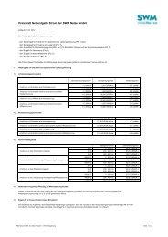 Preisblatt Netznutzung Strom ab 01.01.2012 - SWM Netze