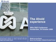 The Ahold experience - Willis