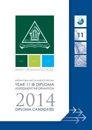 Year 11 IB Diploma Assessment Information - Trinity Grammar School