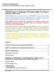 Testo Integrato - Sistema d'informazione nazionale sull'agricoltura ...