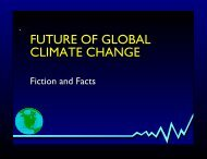 FUTURE OF GLOBAL CLIMATE CHANGE - Fedge