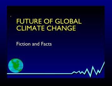 FUTURE OF GLOBAL CLIMATE CHANGE - Fedge