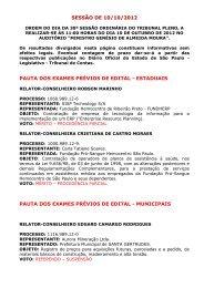 sessão de 10/10/2012 pauta dos exames prévios de edital