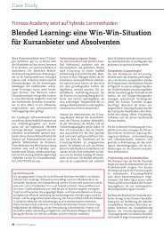 Blended Learning: eine Win-Win-Situation für ... - solutionproviders