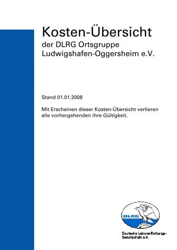 Gebührenordnung DLRG Ludwigshafen-Oggersheim 2008 01 01
