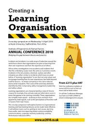 Learning Organisation - Clinical Human Factors Group