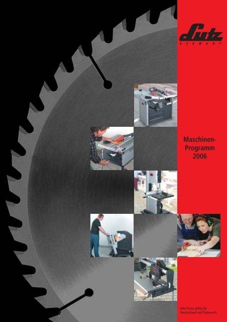 Maschinen- Programm 2006 - LUTZ MASCHINEN