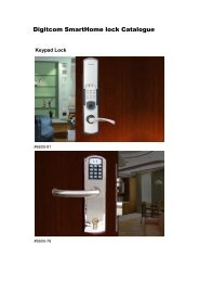 Digi lock Catalogue - Smart Home