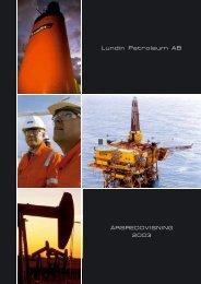 Årsredovisning 2003 - Lundin Petroleum