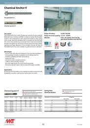 Chemical Anchor V - MKT Metall-Kunststoff-Technik GmbH & Co. KG