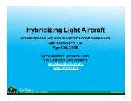 Hybridizing Light Aircraft - CAFE Foundation