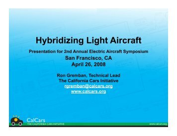 Hybridizing Light Aircraft - CAFE Foundation