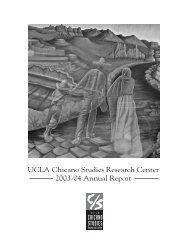 UCLA Chicano Studies Research Center 2003-04 Annual Report
