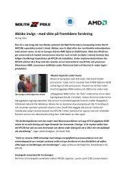 Abisko invigs - med sikte på framtidens forskning - HPC2N - Umeå ...