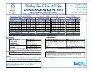 Bluebay Rack Rates 2012.xlsx