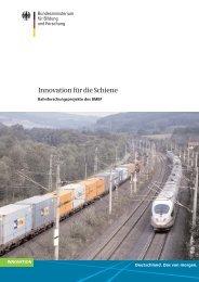Innovation für die Schiene - Mobilität 21