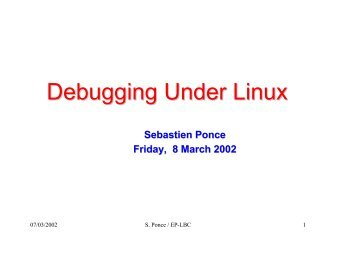Debugging Under Linux