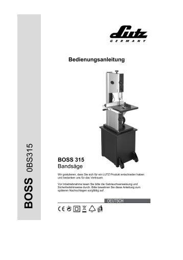 BOSS 315 - LUTZ MASCHINEN