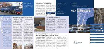 MCB Nieuws - december 2011 - jaargang 61 - MCB Nederland B.V.