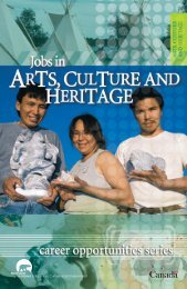J5622_Jobs in Arts, Culture, Heritage Text - Education, Culture and ...