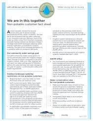 Non potable water fact sheet - Colorado Springs Utilities