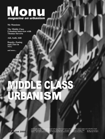 MIDDLE CLASS URBANISM - magazine for urban documentation ...