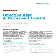 Direction Risk & Permanent Control - Crédit Agricole CIB