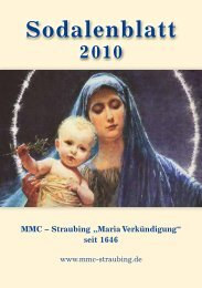 "MMC - Straubing ""Maria Verkündigung"" seit 1646"