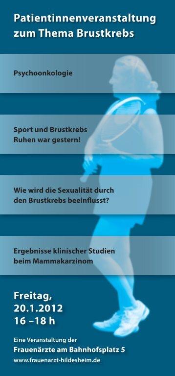 Patientinnenveranstaltung - Mammographie-Screening - Hildesheim