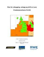 Plan for utbygging, anlegg og drift av Luno ... - Lundin Petroleum