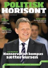 Politisk Horisont nr. 1 2012 - Konservativ Folkeparti