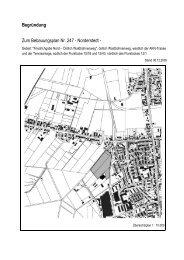 Begründung zum Bebauungsplan 247 - Frederikspark