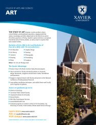 Bachelor of Arts (BA) in Art and Bachelor of Fine ... - Xavier University