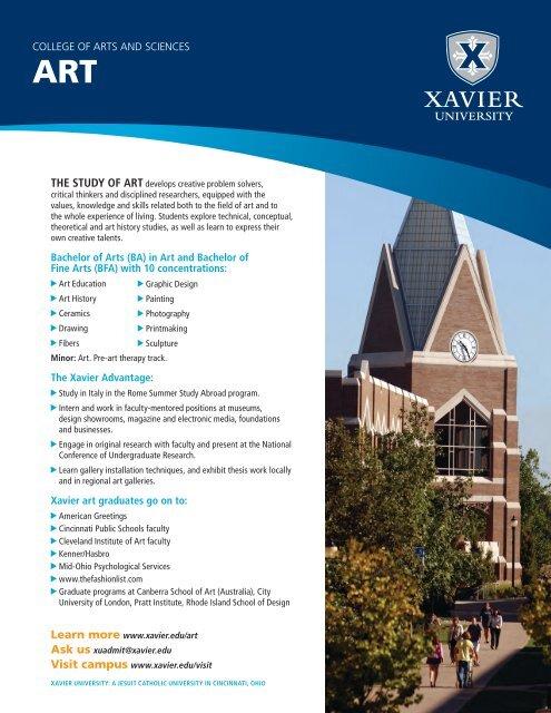 Bachelor of Arts (BA) in Art and Bachelor of Fine ... - Xavier University