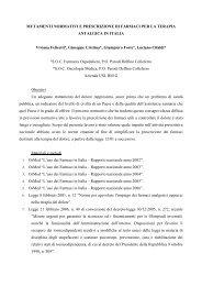 Mutamenti normativi e prescrizione di farmaci per la ... - TC Group